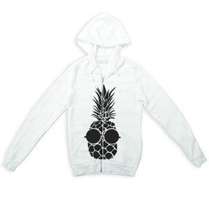 "Women - Apparel - Sweaters - Crew Neck Sweatshirt con zip ""Ananas"" Fashion Madness"