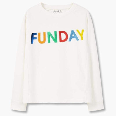 "Women - Apparel - Sweaters - Crew Neck Sweatshirt ""Funday"" Fashion Madness"