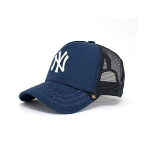Men - Accessories - Hats Trucker Hat - New York Blue/White Fashion Madness