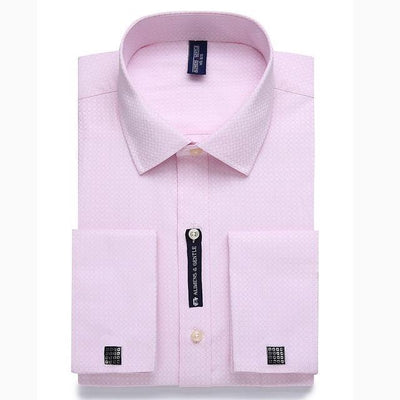 Men - Apparel - Pants - Trousers Alimens & Gentle Mens French Cuff Dress Shirt