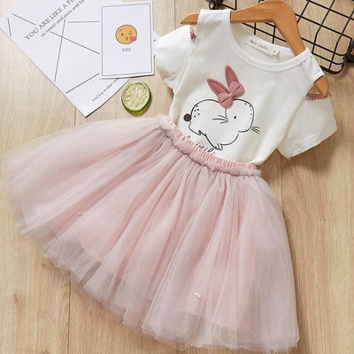 KIDS CLOTHES white -az1578 / 7 Girls Dress Casual Dress Summer Style Girls Sleeveless White Lace 2Pcs