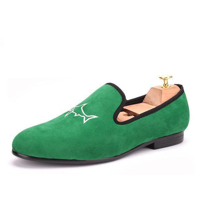 Men - Shoes - Loafers & Drivers grass green / 4 Handcrafted Green Velvet Loafers fashion clothing accessories shoes jewelry