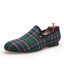 Men - Shoes - Loafers & Drivers Green / 6 Handmade Scotch Plaid Casual Loafers fashion clothing accessories shoes jewelry