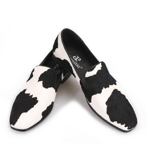 Men - Shoes - Loafers & Drivers Handmade Black and White Stitching Loafers fashion clothing accessories shoes jewelry