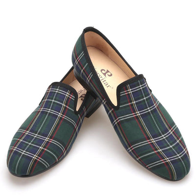 Men - Shoes - Loafers & Drivers Handmade Scotch Plaid Casual Loafers fashion clothing accessories shoes jewelry