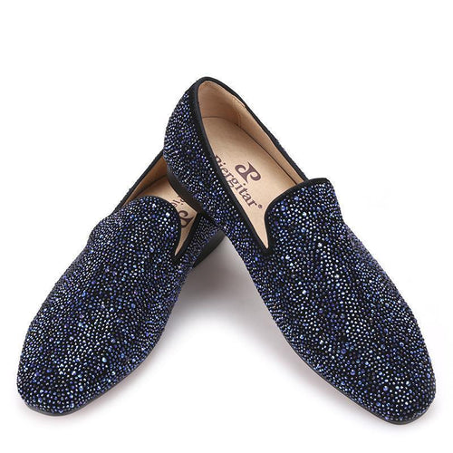 Men - Shoes - Loafers & Drivers Rhinestones Luxury Leather Loafers fashion clothing accessories shoes jewelry