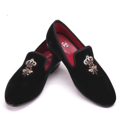 Men - Shoes - Loafers & Drivers Silk Embroidery Velvet Loafers fashion clothing accessories shoes jewelry