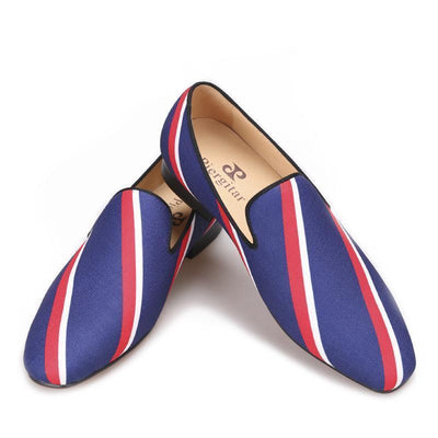 Men - Shoes - Loafers & Drivers Square Toe  Striped Canvas Loafers fashion clothing accessories shoes jewelry