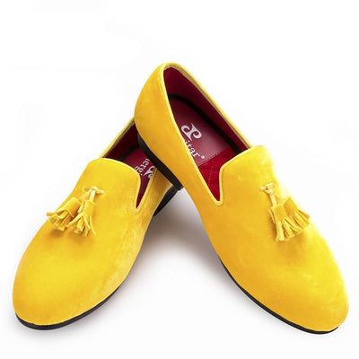 Men - Shoes - Loafers & Drivers Velvet Elegant Tassel Loafers fashion clothing accessories shoes jewelry