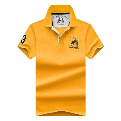 mens shirt yellow / M High Quality Men's Polo shirt (size M-4XL)