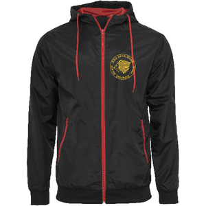 "Men - Apparel - Outerwear - Jackets Black/Red / 2XL 50"" The Lion Head Wind runner fashion clothing accessories shoes jewelry"
