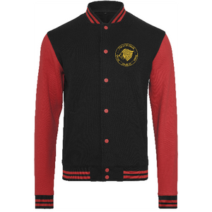 "Men - Apparel - Outerwear - Jackets Black/Red / 2XL 52"" The Lion Head Sweat college jacket fashion clothing accessories shoes jewelry"