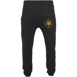 "Men - Apparel - Pants - Skinny Black / 2XL 34"" The Lion Head Heavy deep crotch sweatpants fashion clothing accessories shoes jewelry"