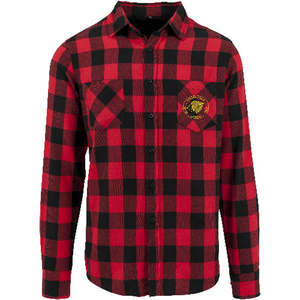 "Men - Apparel - Shirts - Blouses Black/Red / 2XL 50"" The Lion Head Checked flannel shirt fashion clothing accessories shoes jewelry"