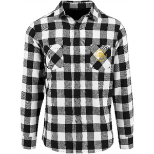 "Men - Apparel - Shirts - Blouses Black/White / 2XL 50"" The Lion Head Checked flannel shirt fashion clothing accessories shoes jewelry"