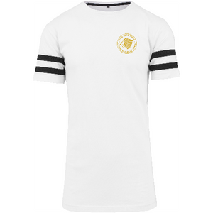 "Men - Apparel - Shirts - T-Shirts White/Black / 2XL 49"" The Lion Head Stripe Jersey tee fashion clothing accessories shoes jewelry"