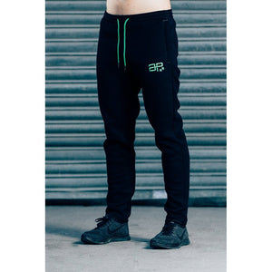 Men - Apparel - Activewear - Leggings CozyFit Joggers - Black & Green Fashion Madness
