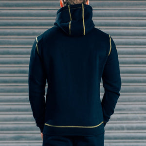 Men - Apparel - Activewear - Tops CozyFit Hoodie - Black & Yellow Fashion Madness