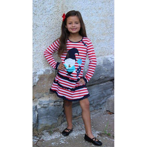 Kids - Girls - Apparel Girls Knome & Bird Applique Dress Fashion Madness