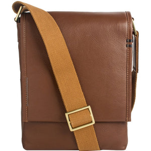 Men - Bags - Crossbody Seattle Unisex Leather Crossbody Messenger Fashion Madness