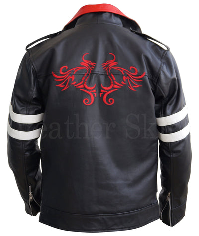 Men - Apparel - Outerwear - Jackets Men Black Embroided Dragon Jacket
