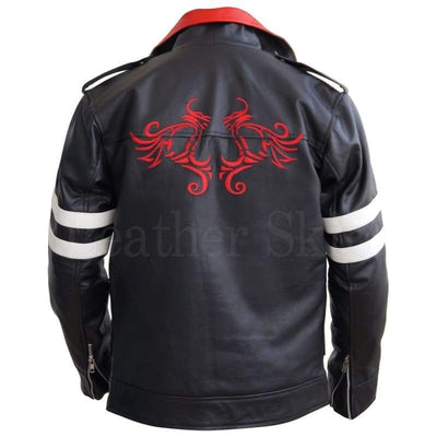 Men - Apparel - Outerwear - Jackets Men Black Embroided Dragon Jacket Fashion Madness