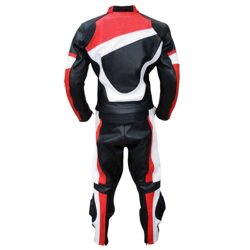 Men - Apparel - Outerwear - Jackets Men Black Red White Biker Leather Jacket Fashion Madness