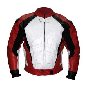 Men - Apparel - Outerwear - Jackets Men Red Biker Racing Leather Jacket Fashion Madness