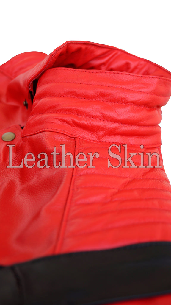Men - Apparel - Outerwear - Jackets Michael Jackson Red Leather Jacket fashion clothing accessories shoes jewelry