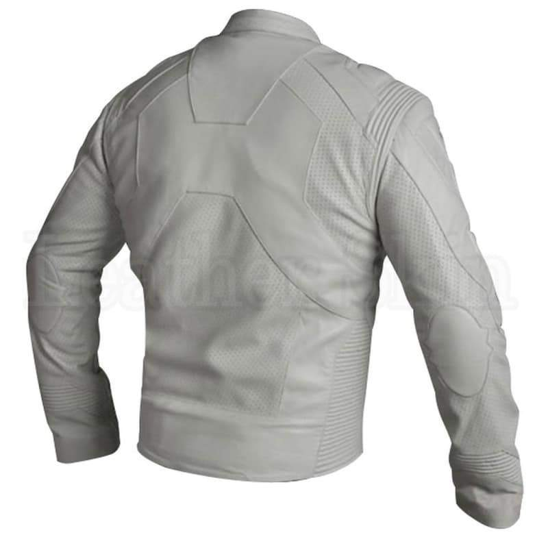 Men - Apparel - Outerwear - Jackets Oblivion Men White Leather Jacket Fashion Madness