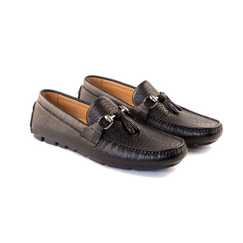 Men - Shoes - Loafers & Drivers Duilio - Driving Moccasin In Black American Deerskin Fashion Madness