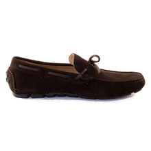 Men - Shoes - Loafers & Drivers Santo - Driving Moccasin In Chocolate Suede Fashion Madness