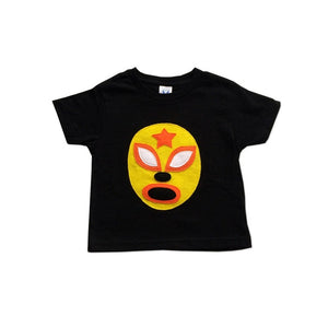 Kids - Boys - Apparel Kid's Cape and Shirt- Luchador Amarillo - Yellow Mexican Wrestler Toddler T-Shirt & Red Cape Combo fashion clothing accessories shoes jewelry