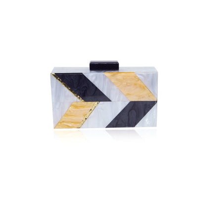 Women - Bags - Clutches & Evening Mother of pearl Acrylic clutch Fashion Madness