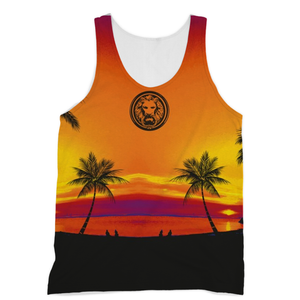 Men - Apparel - Activewear - Tops Tropical Beach All over Print Vest Tank Fashion Madness