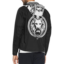 Men - Apparel - Outerwear - Jackets Mens Black Wind Breaker Back Lion fashion clothing accessories shoes jewelry