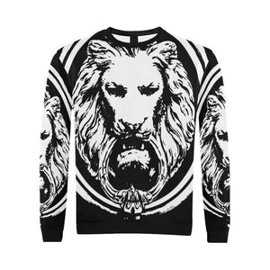 Men - Apparel - Sweaters - Crew Neck Mens All Over Lion Sweatshirt fashion clothing accessories shoes jewelry