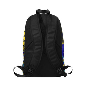 Men - Bags - Backpacks Blue Yellow Chain Adult Back Pack Fashion Madness