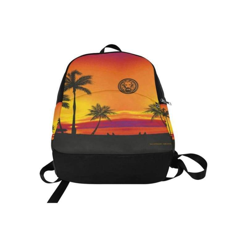 Men - Bags - Backpacks Tropical Black Palm Trees Adult Backpack Fashion Madness