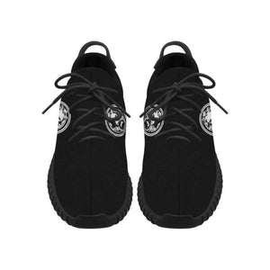 Men - Shoes - Sneakers Lion Large Black Mens Trainers Breathable Grus Fashion Madness
