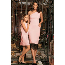 Kids - Girls - Apparel Blush Pink Stretchy Summer Party Cocktail Matching Mommy and Me Dress Fashion Madness