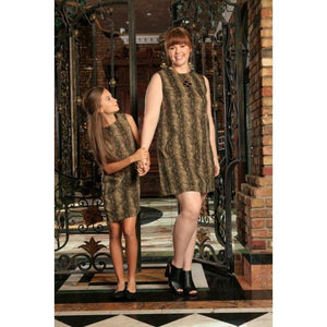 Kids - Girls - Apparel Sage Green Animal Print Sleeveless Mommy and Me Dresses Plus Size Fashion Madness