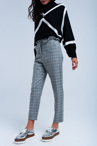 Women - Apparel - Pants - Trousers Gray tartan pattern pants fashion clothing accessories shoes jewelry