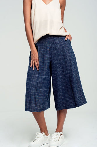 Women - Apparel - Pants - Trousers Tailored culottes in navy fashion clothing accessories shoes jewelry