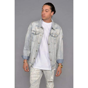 Men - Apparel - Denim - Jackets Senna Distressed Denim Jacket Fashion Madness