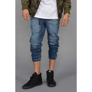 Men - Apparel - Denim - Jeans Denim Jogger Pants Fashion Madness