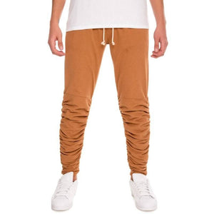 Men - Apparel - Pants - Skinny The Santos Rouched Leg Jogger Sweats in Camel Fashion Madness