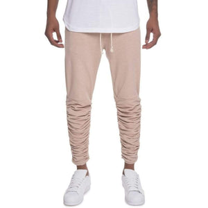 Men - Apparel - Pants - Skinny The Santos Rouched Leg Jogger Sweats in Taupe Fashion Madness
