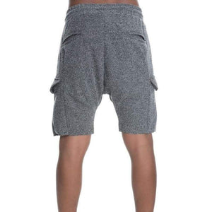 Men - Apparel - Shorts - Casual The Ichiro French Terry Drop Crotch Cargo Shorts in Salty Fashion Madness