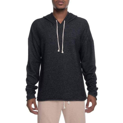 Men - Apparel - Sweaters - Pull Over Sergey Drop Shoulder Box Fit Hoodie in Black Fashion Madness